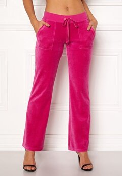 Juicy Couture Velour Del Rey Pant Raspberry Pink Bubbleroom.fi