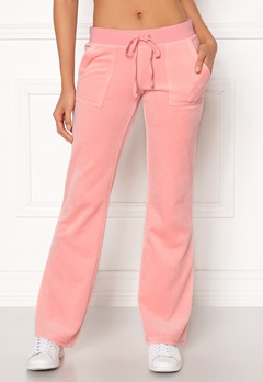 Juicy Couture Velour Del Rey Pant Sorbet Pink Bubbleroom.fi
