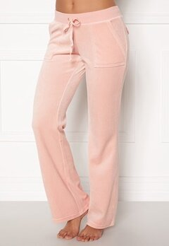 Juicy Couture Velour On Going Pant Silver Pink Bubbleroom.fi