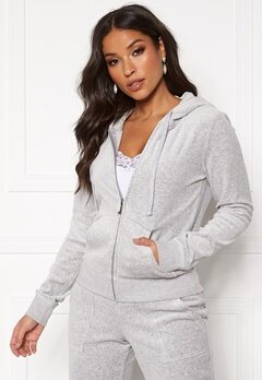 Juicy Couture Velour Track On Going Jkt Silver Lining Bubbleroom.fi