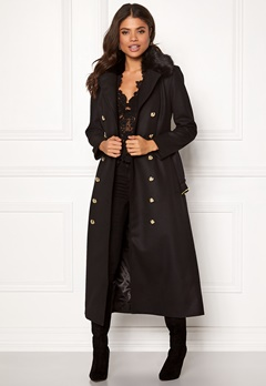 Ida Sjöstedt Jules Coat Wool Black Bubbleroom.fi