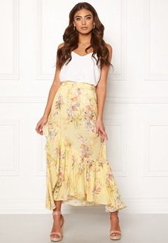 Ravn Kai Skirt Yellow Flower Bubbleroom.fi