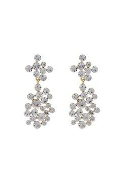 SNÖ of Sweden Kairo Big Pendant Earrings Gold/Clear Bubbleroom.fi