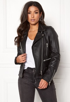JOFAMA Kajta Leather Jacket 00 Black Bubbleroom.fi