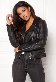 JOFAMA Kajta Leather Jacket 00 Black Bubbleroom.fi