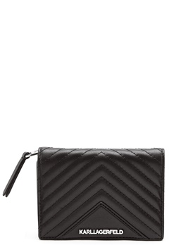 Karl Lagerfeld Classic Quilted Wallet Black Bubbleroom.fi