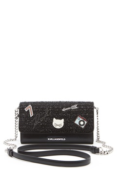 Karl Lagerfeld Classic Wallet On Chain Black Bubbleroom.fi