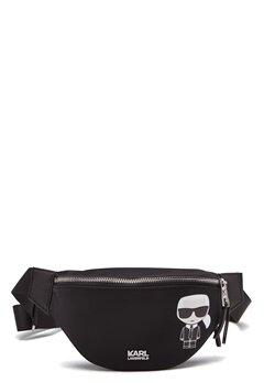 Karl Lagerfeld Iconic Nylon Bumbag 999 Black Bubbleroom.fi