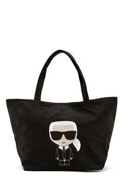 Karl Lagerfeld Ikonik Karl Canvas Tote A999 Black Bubbleroom.fi