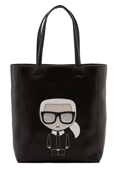 Karl Lagerfeld Ikonik Soft Tote Black/Nickel Bubbleroom.fi