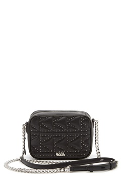 Karl Lagerfeld Quilted Stud Camera Bag Black/Nickel Bubbleroom.fi