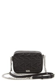 Karl Lagerfeld Quilted Stud Camera Bag Black/Nickel Bubbleroom.fi