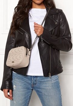 Karl Lagerfeld Quilted Stud Camera Bag Taupe Bubbleroom.fi