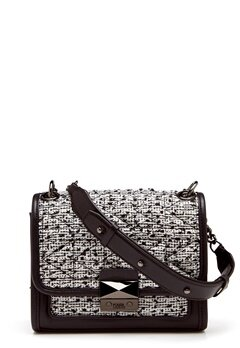 Karl Lagerfeld Quilted Tweed Small Bag Black/White Bubbleroom.fi