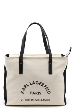 Karl Lagerfeld Rue Lagerfeld Beachbag Natural Bubbleroom.fi