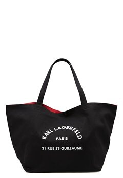 Karl Lagerfeld Rue St Guillaume Canvas 999 Black Bubbleroom.fi