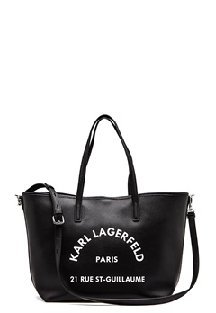 Karl Lagerfeld Rue St Guillaume Tote Black/Nickel Bubbleroom.fi