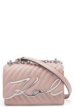 Karl Lagerfeld Signature Stitch S Bag 526 Powder Pink Bubbleroom.fi