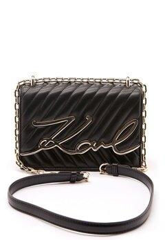 Karl Lagerfeld Signature Stitch S Bag 997 Black/Gold Bubbleroom.fi