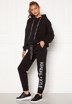 KENDALL + KYLIE K&K Active Classic Sweat Pants Black Bubbleroom.fi