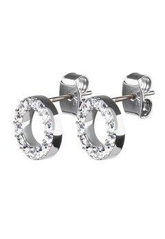 Dyrberg/Kern Koro Crystal Earrings Silver Bubbleroom.fi