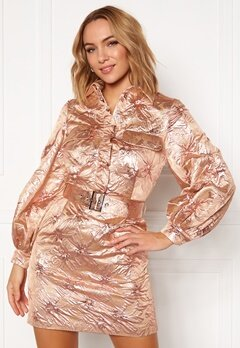 LARS WALLIN Workwear Dress Pink Metallic Bubbleroom.fi