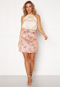 LARS WALLIN Workwear Skirt Pink Metallic Bubbleroom.fi