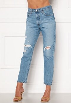 LEVI'S 501 Crop Jeans 0141 Sansome Light Bubbleroom.fi