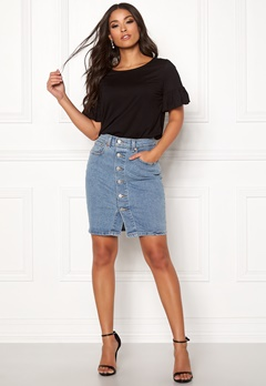 LEVI'S Button Thru Mom Skirt 0002 Mid Race Bubbleroom.fi