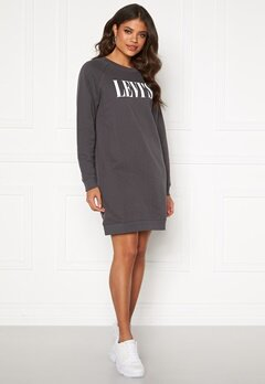 LEVI'S Crew Sweatshirt Dress Forged Iron Bubbleroom.fi