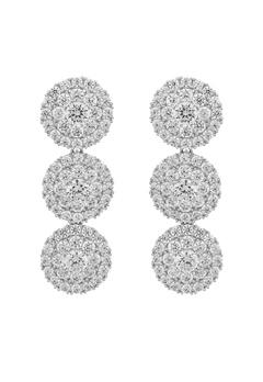 SNÖ of Sweden Lex Long Earrings Silver/Clear Bubbleroom.fi