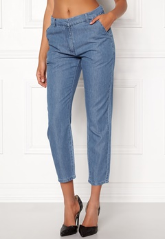 VILA Liama 7/8 Straight Pants Medium Blue Denim Bubbleroom.fi