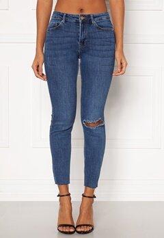 Pieces Lili Slim MW Jeans Medium Blue Denim Bubbleroom.fi