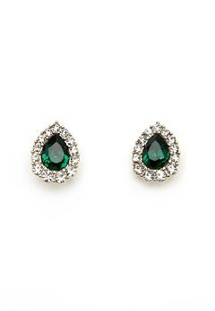 LILY AND ROSE Amelie Earrings Emerald Bubbleroom.fi