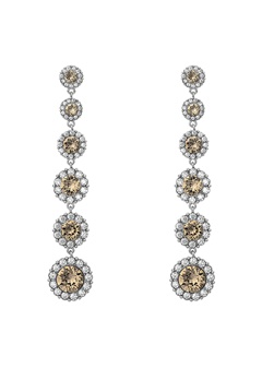 LILY AND ROSE Celeste Earrings Diamond Grey Bubbleroom.fi