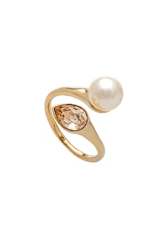 LILY AND ROSE Ella Pearl Ring Ivory Bubbleroom.fi