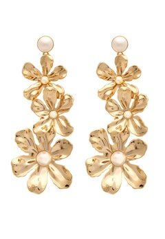 LILY AND ROSE Eponine Pearl Earrings Ivory Bubbleroom.fi