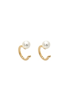 LILY AND ROSE Kennedy Cuff Earrings Ivory Bubbleroom.fi