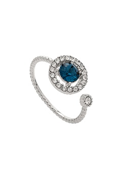 LILY AND ROSE Miranda Ring Silver Blue Bubbleroom.fi