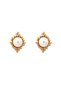 LILY AND ROSE Miss Bonnie Earrings Ivory Bubbleroom.fi