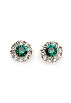 LILY AND ROSE Miss Sofia Earrings Emerald Bubbleroom.fi