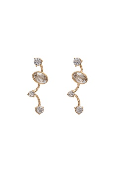 LILY AND ROSE Petite Siri Earrings Crystal/Gold Bubbleroom.fi