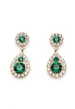 LILY AND ROSE Petite Sofia Earrings Emerald Bubbleroom.fi