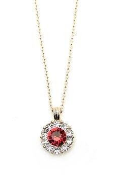 LILY AND ROSE Sofia Necklace Scarlett Red Bubbleroom.fi