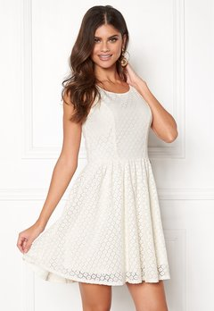 ONLY Line fairy lace dress Whisper White Bubbleroom.fi
