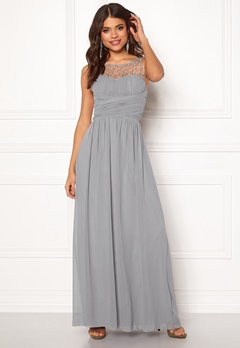 Little Mistress Anna Pearl Dress Grey Bubbleroom.fi