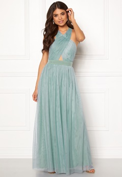 Little Mistress Crossover Maxi Dress Blue Bubbleroom.fi