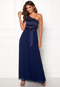 Little Mistress Megan Oneshoulder Dress Navy Bubbleroom.fi
