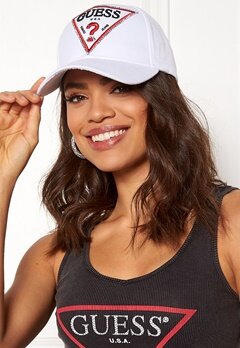 Guess Logo Baseball Cap True White Bubbleroom.fi