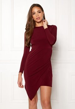John Zack Long Asymmetric Dress Wine Bubbleroom.fi